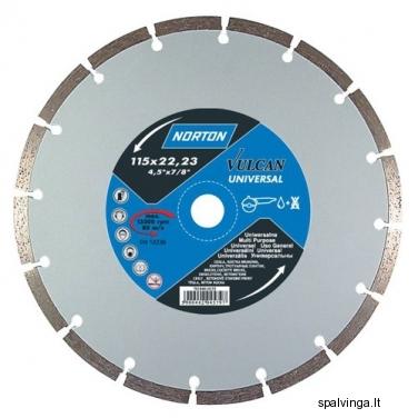 Deimantinis pjovimo diskas VULCAN UNIVERSAL NORTON, skersmuo 115 mm