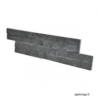 Natūralus apdailinis akmuo WALL CRAZY BLACK SMALL (0,44 m2)