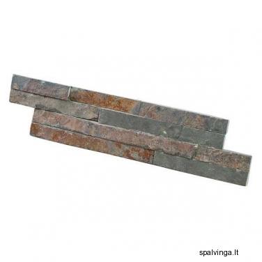 Natūralus apdailinis akmuo vidinėms ir išorinėms fasado sienoms WALL CRAZY RUDY SMALL (0,44 m2)