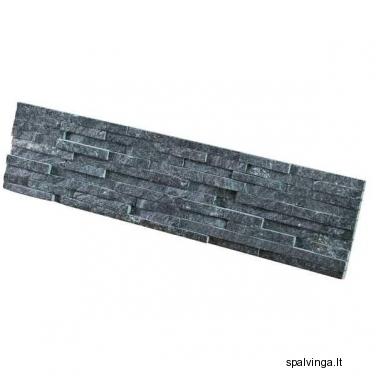 Natūralus akmuo WALL CRAZY SILVER BLACK (0,54 m2)