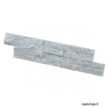 Apdailinis natūralus akmuo išorinėms ir vidinėms sienoms WALL CRAZY SNOW WHITESMALL (0,44 m2)