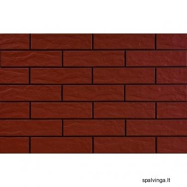 Fasado apdailinė plyta RUSTIKO 250X65X6.5 ROT (0,52 m2)