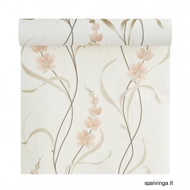 Viniliniai tapetai popieriaus pagrindu FLOWERS KBM
