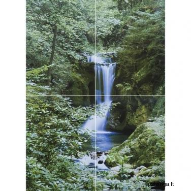 Fototapetai WATERFALL IN SPRING 254x183 cm
