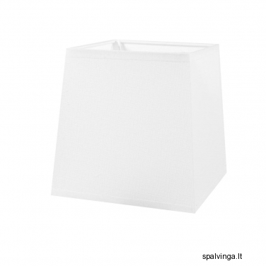 Šviestuvo gaubtas PLAUNAMAS 11x13x13 cm E27 baltas