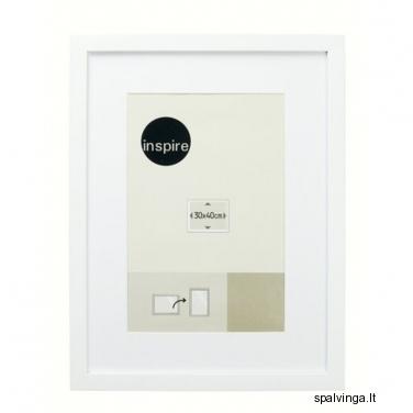 Medinis fotografijų rėmelis BASIC INSPIRE, baltas