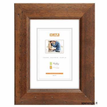 Medinis fotografijų rėmelis KORA DRZ-K4, rudas