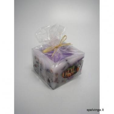 Dekoratyvinė žvakė KWADRAT violetinė