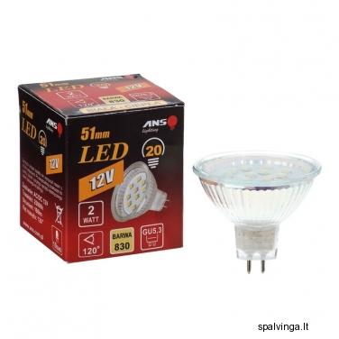 Šviesos diodų (LED) lemputė MR16GU5,3 ANS, reflektorinė
