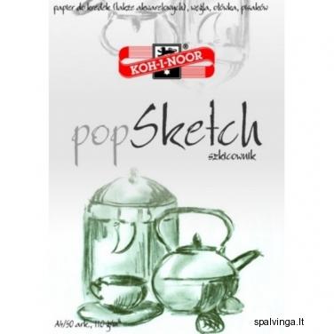 """Piešimo sąsiuvinys """" POP SKETCH"""" A4 50 lapų"""