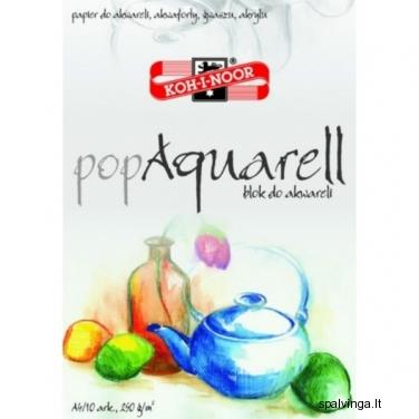 "Piešimo sąsiuvinys ""POP AQUARELL"" A4 10"