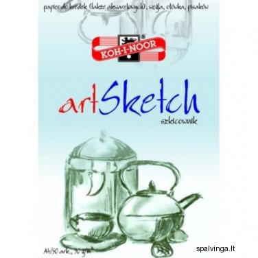 Piešimo sąsiuvinys ART SKETCH A4 50