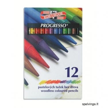 Kreidutės KOH-I-NOOR  PROGRESSO 12 spalvų