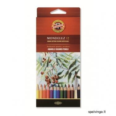 Kreidutės KOH-I-NOOR  MONDELUZ 12 spalvų