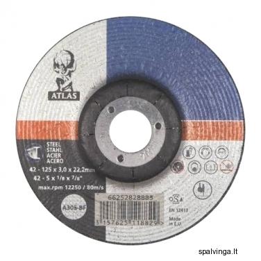 Šlifavimo diskas plienui, T41 ATLAS, skersmuo 125 mm