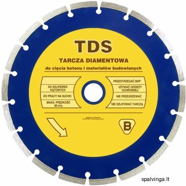 Deimantinis pjovimo diskas TDC IN CORPORE, skersmuo 125 mm