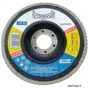 Žiedlapinis šlifavimo diskas P40 CON-TS125-40 CONDOR, skersmuo 125 mm