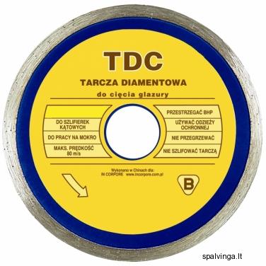 Deimantinis pjovimo diskas TDC IN CORPORE, skersmuo 110 mm