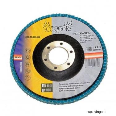 Žiedlapinis šlifavimo diskas P40 CON-TSZ125-40 CONDOR, skersmuo 125 mm