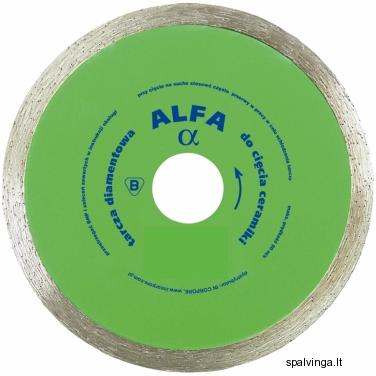 Deimantinis pjovimo diskas ALFA IN CORPORE, skersmuo 115 mm