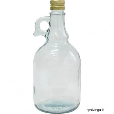 Stiklinis vyno butelis su kamščiu BWN