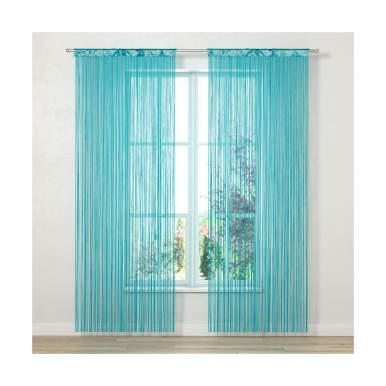 Durų uždanga INSPIRE 90x250 cm (mėlyna)