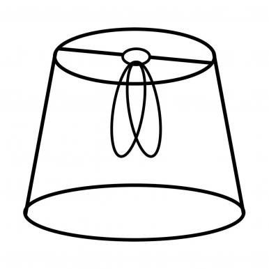 Šviestuvo gaubtas KLASYK 8/15x10 cm E14